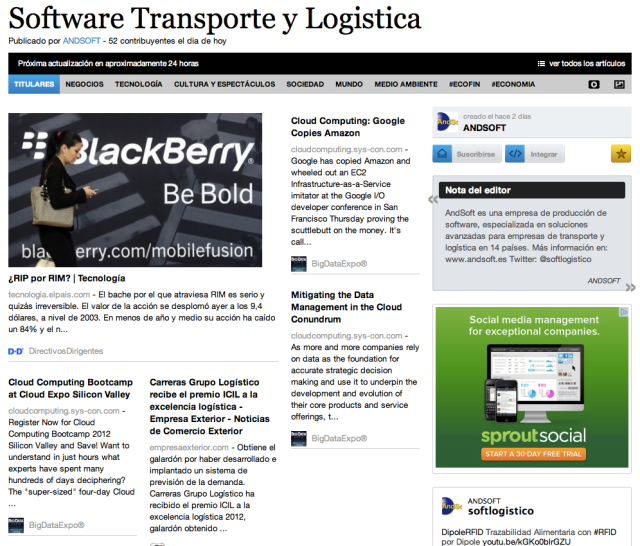 AndSoft Software Transporte y Logística