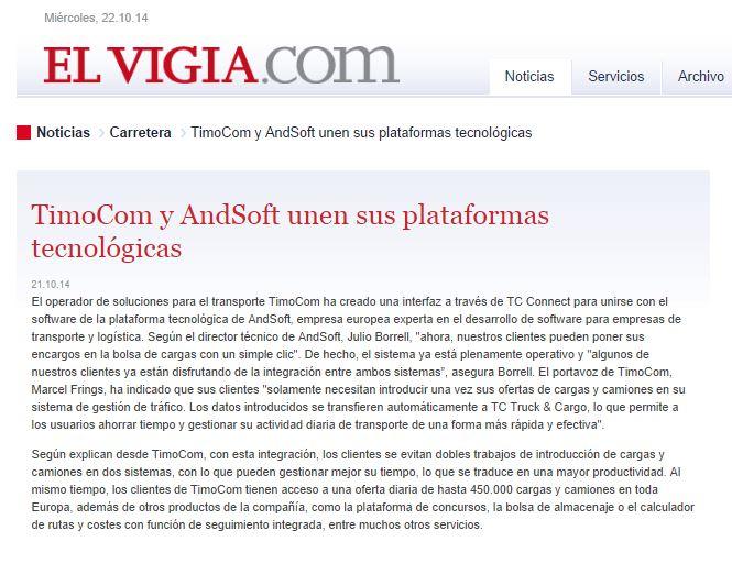 ANDSOFT EL VIGIA WEB