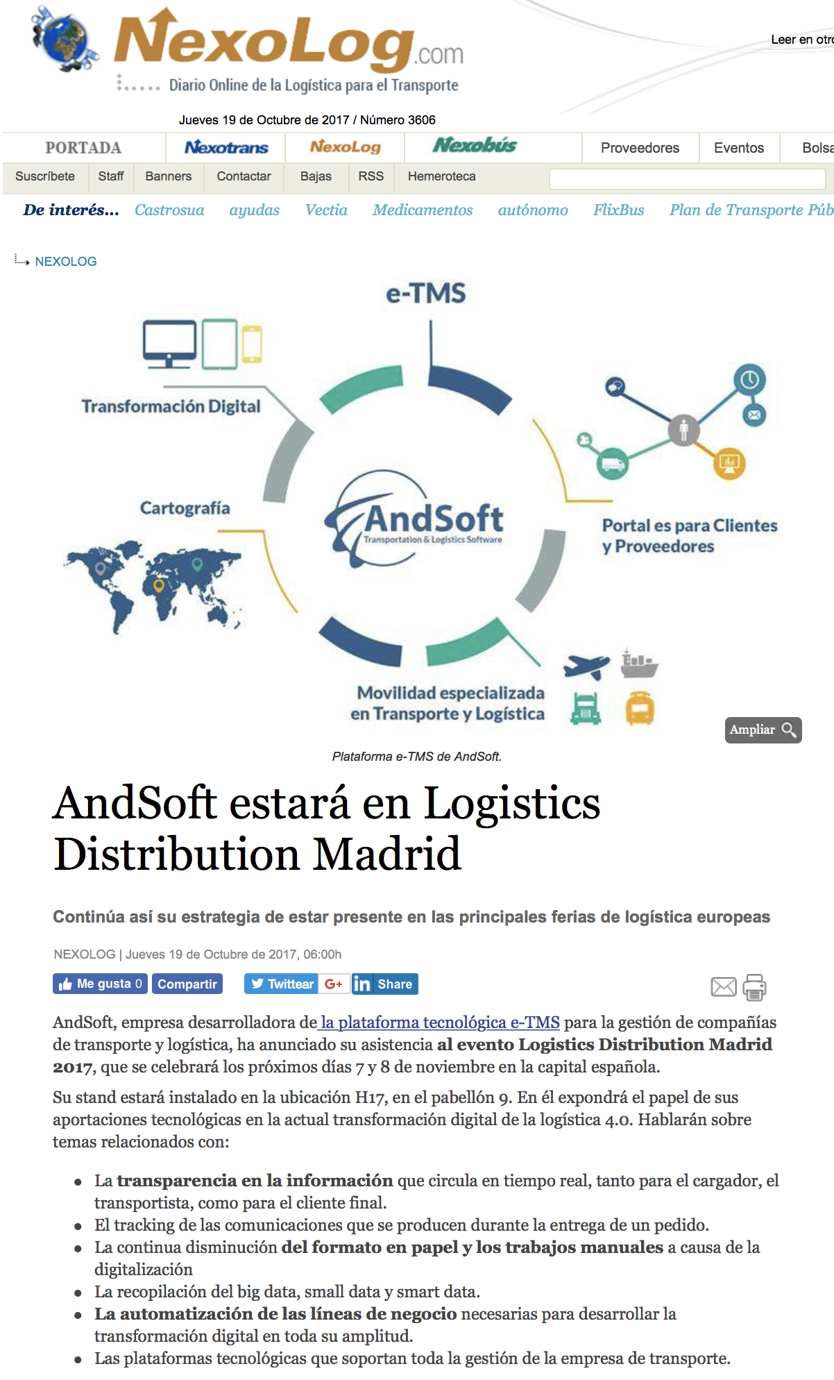 AndSoft Logistics Madrid 2017