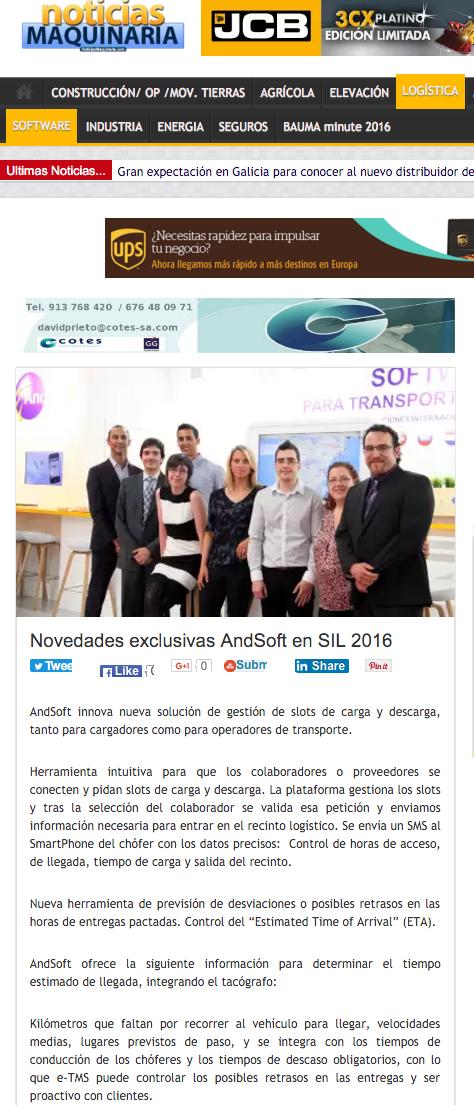 AndSoft Novedades SIL 2016 Víctor Vilas
