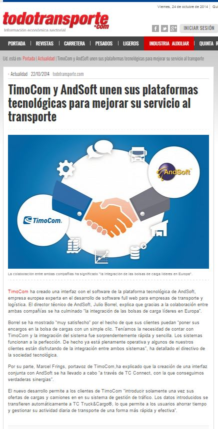 ANDSOFT TODOTRANSPORTE NEWS
