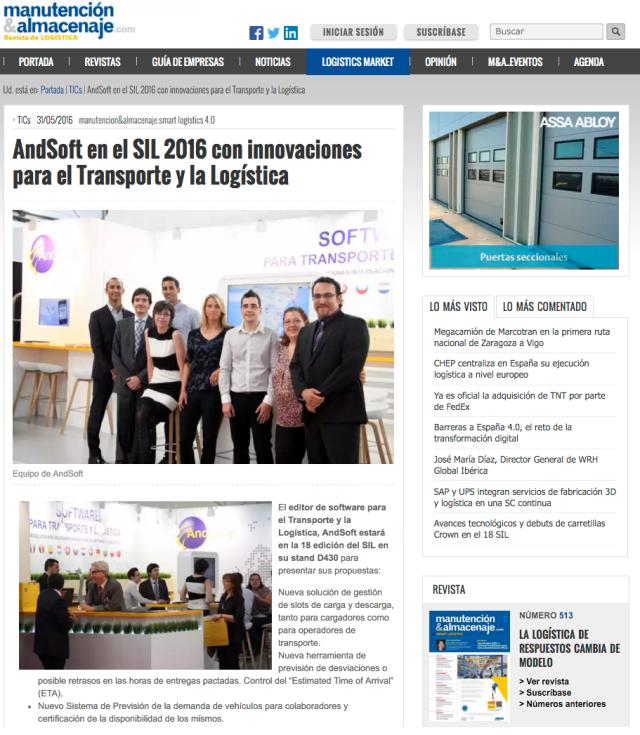 AndSoft SIL 2016 Novedades Víctor Vilas