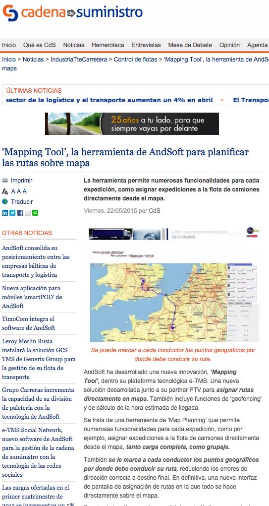 Novedades AndSoft SIL 2015 en cadenadesuministro