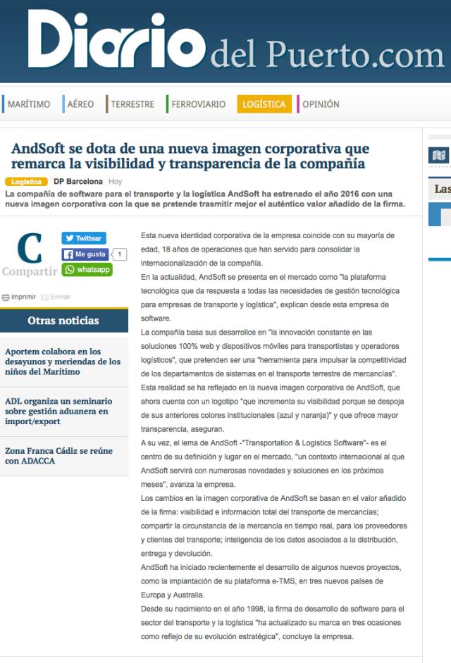 andsoft nuevo logo en diariodelpuerto.com