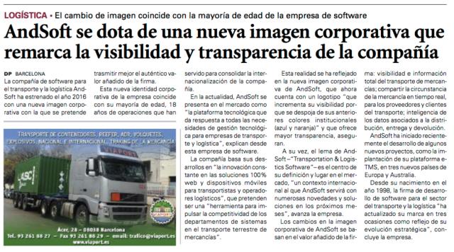 andsoft nueva identidad corporativa Diario del Puerto 8 enero 2016