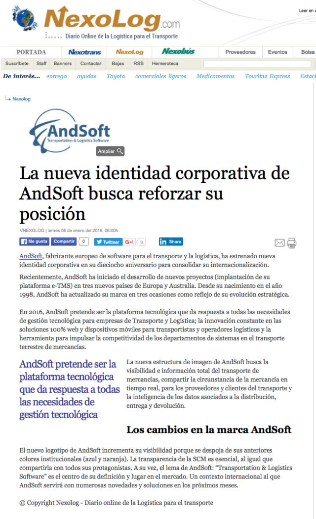 andsoft nueva identidad corporativa nuevo logo 8 enero 2016 Nexotrans