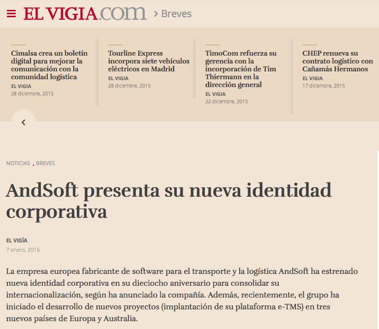 andsoft presenta nueva identidad corporartiva en ELVIGIA 8 ene 2016
