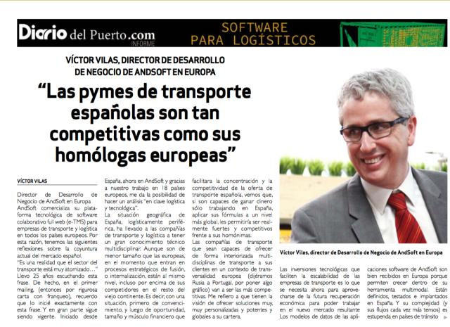 Victor Vilas AndSoft en Diario del Puerto 2016