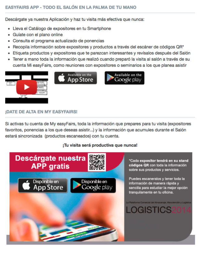 easyfairs app logistics madrid empack madrid packaging innovations