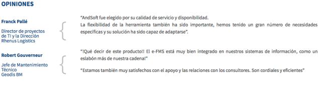 AndSoft ERP Software Transporte Software Logística