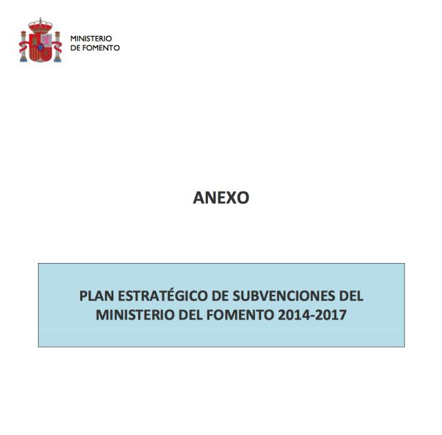 Inversiones Públicas Subvenciones Públicas Ministerio de Fomento Transporte Carretera 2015