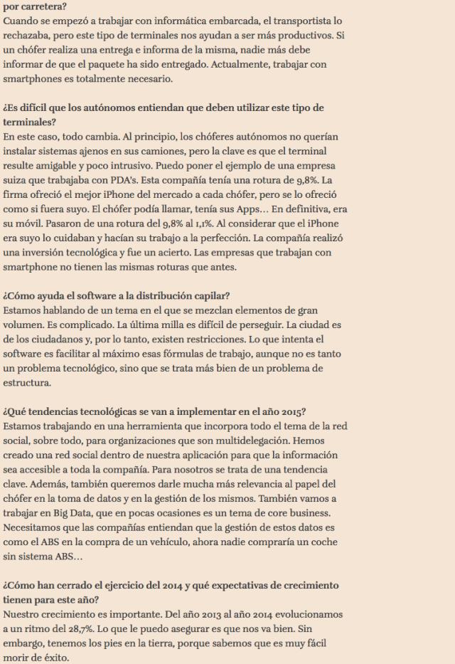 Entrevista Víctor Vilas en El Vigia 9 feb 2015