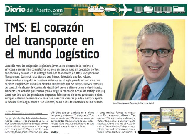 AndSoft en Especial Software Transporte y Logística Diario del Puerto