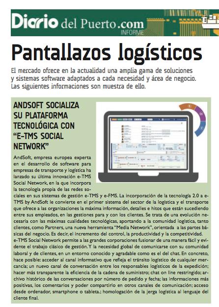 AndSoft soluciones TIC empresa transporte y operador logístico