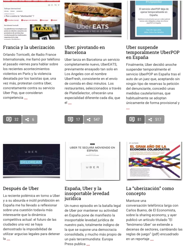 Blog Enrique Dans con análisis sobre Uber