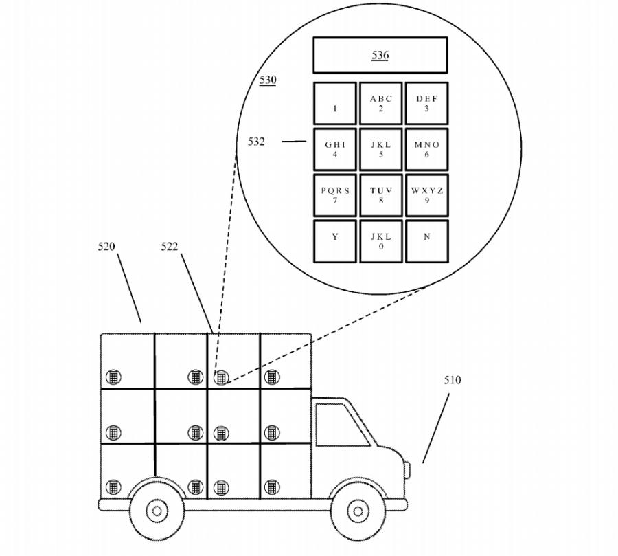 patente google paquetera camión autónomo