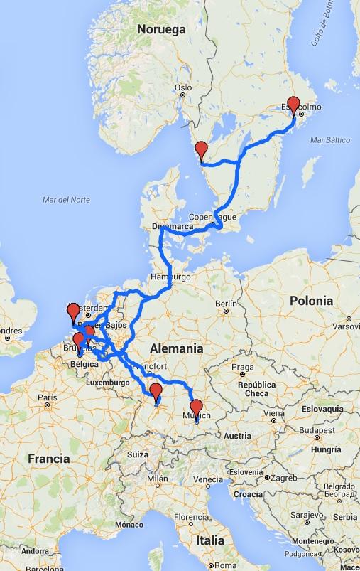 convoy 12 camiones autónomos sin chófer recorrido mapa