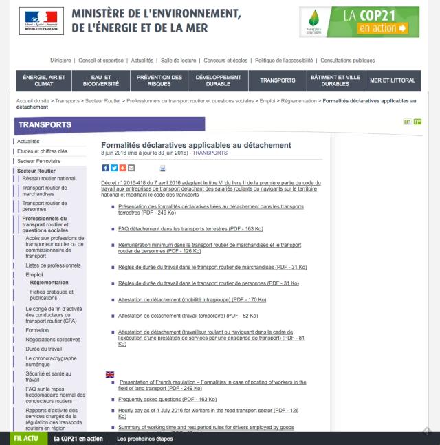 Sanciones Salario Mínimo Francia Transporte