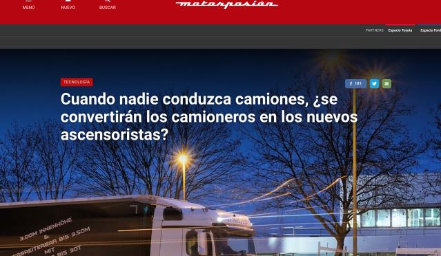 ¿Los camioneros tendrán que ser ascensoristas? Noticia de MotorPasión.png