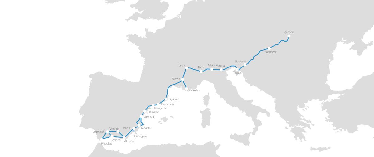 El impacto del Corredor del Mediterráneo en las compañías de transporte y entre los operadores logísticos