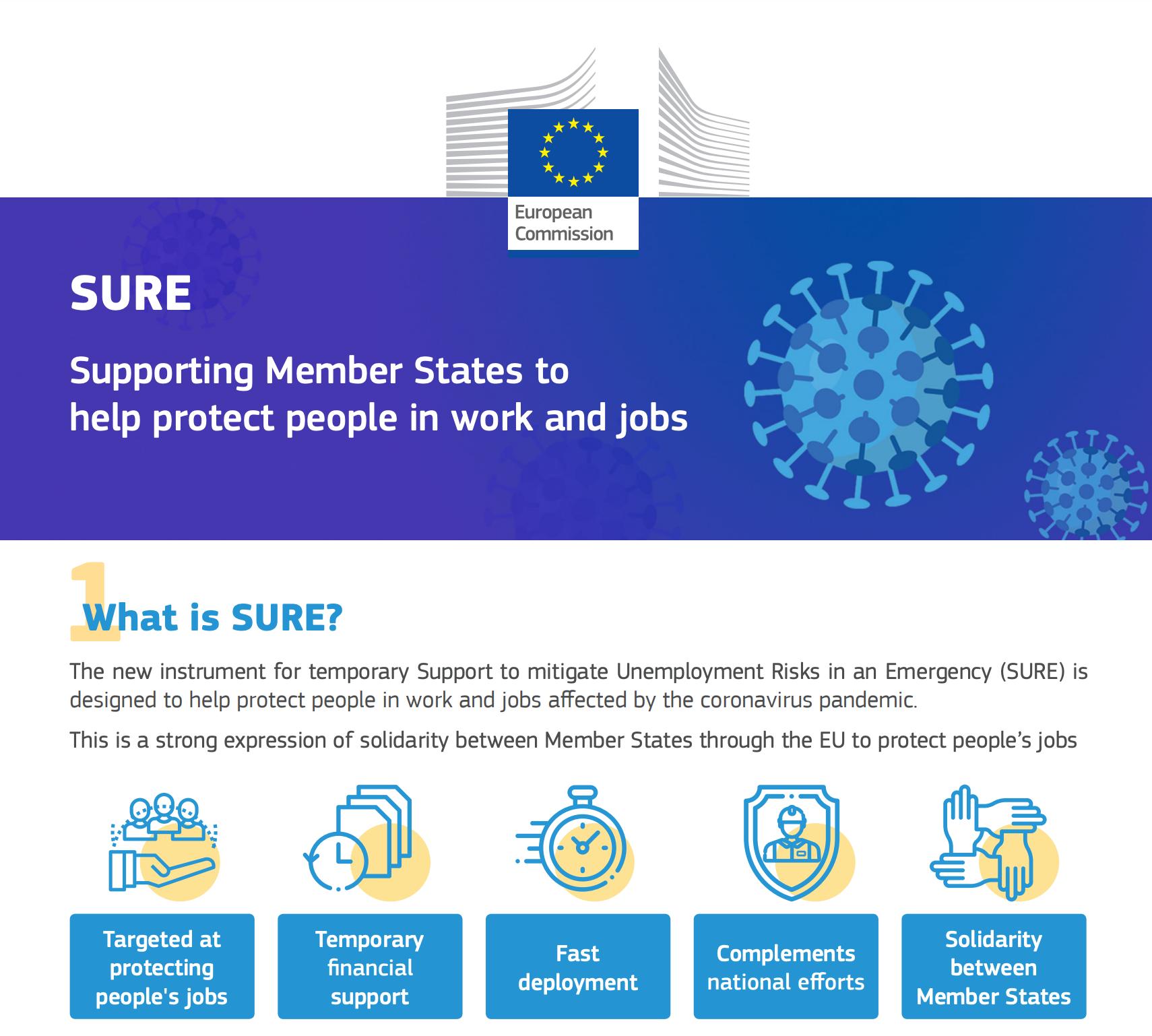 La Comisión Europea lanza su primer plan salvavidas con 100.000 millones de euros para combatir las consecuencias del Coronavirus Covid-19