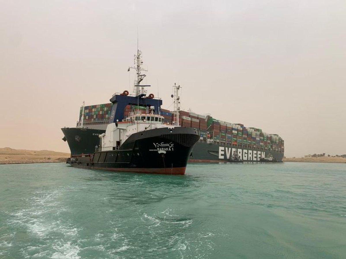 El Bloqueo del Canal de Suez por el Buque Ever Given duró una semana con subida del precio del petróleo y graves consecuencias para el comercio internacional