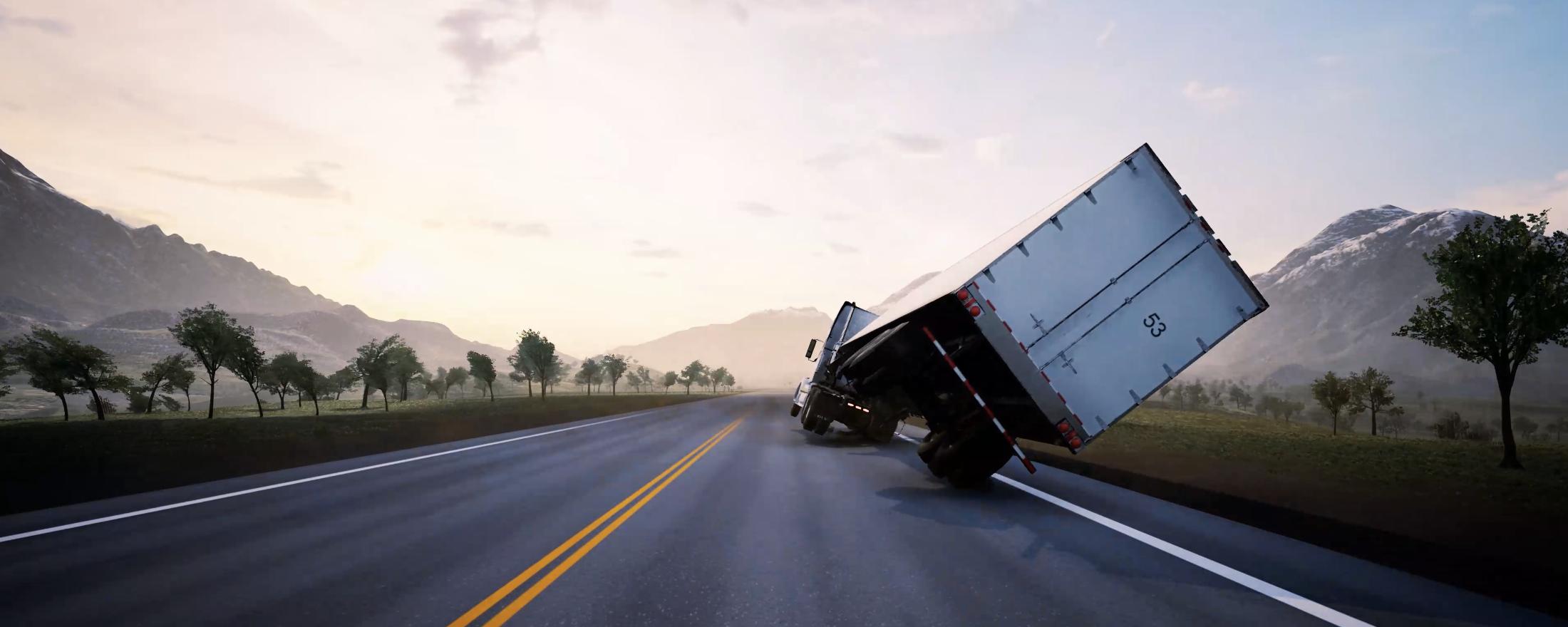 Tecnología antivuelco para camiones en temporales de ventiscas